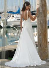 Летние платья Свадебный онлайн империи V-образный вырез атласа погонах...