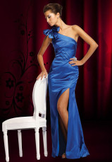 Gorgeous Sheath One-Shoulder Satin Prom Dress