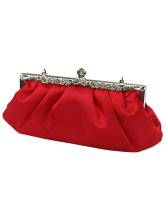 Red Satin Prom Clutch