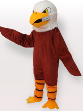 Brown Eagle Short Plush Adult Mascot Funny Costume