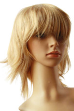 Women's Blond Short Curly Cosplay Wig