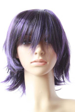 Women's Perse Short Straight Cosplay Wig