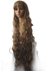 Women's 120cm Brown Long Curly Cosplay Wig