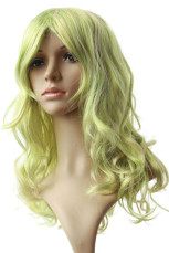 Women's 80cm Light Green Long Curly Cosplay Wig