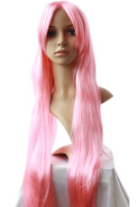 Women's 100cm Pink Long Straight Wig