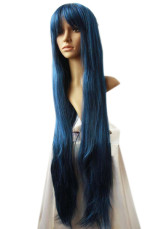 Women's 1m Blue-black Long Straight Wig