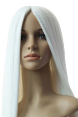 Women's 1m Pure White Long Straight Wig