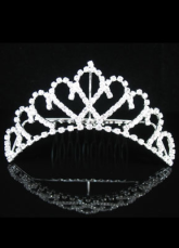 Silver Rhinestone Wedding Bridal Tiara