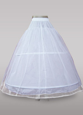 Concise White Wedding Bridal Hoop Petticoat