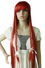 Women's 100cm Red Long Fashion Wig