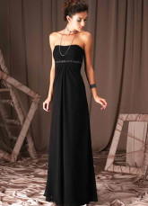Euro Style Sweetheart Strapless Empire Waist Taffeta Evening Dress