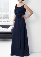 Повседневный Длина пола Плиссированные вечернее платье атласная.