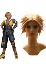Final Fantasy X Tidus perruque cosplay 25cm