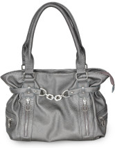38*11*23cm Fashion Silver PU Tote Handbag