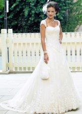 Свадебные платья с шлейфом, фото.