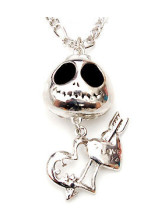 Teschio Metal Heart Necklace Party