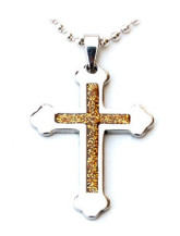Gothic Cross Stainless Steel Necklace Party