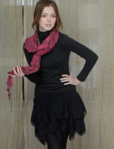 Warm Burgundy 100% Cotton Scarf