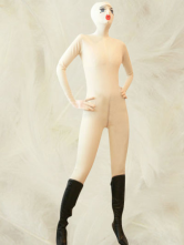 Cream Color One-Piece Baby Face Full Body Latex Catsuit