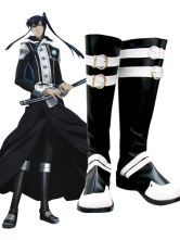 D.Gray-man Yu Kanda Imitated Leather Cosplay Shoes