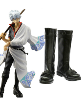 Gin Tama Sakata Gintoki Imitated Leather Foam Cosplay Shoes