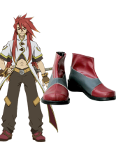 Tales of the Abyss Luke Imitated Leather Rubber Cosplay Shoes