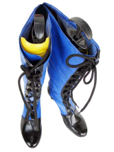 Black And Blue Kuroshitsuji Cosplay Imitated Leather Boots
