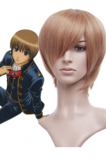 Orange 30cm gintama Okita Sougo Nylon Cosplay Wig
