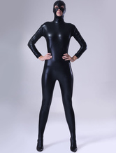 Classic Black Shiny Metallic Unisex Zentai Suit
