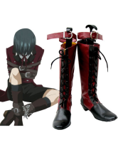 Black Butler Ciel Imitated Leather Rubber Cosplay Boots