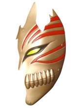 Golden Bleach Kurosaki Ichigo Hollow PVC Cosplay Mask