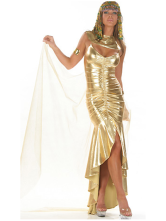 Golden Cleo Hero Egyptian Queen Sexy Costume