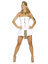 Slim White Acrylic PU Womens Fantasy Costume