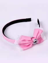 Cute Pink Plastic Bowknot Hair Band Girls Barbie Costumes
