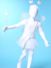 Sweet White Gauze Dance Skirts Girls Barbie Costumes