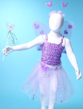 Purple Gauze Popular Wings Dance Skirts Girls Barbie Costumes