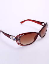 Cool Red Resin Glasses Womens Sunglasses