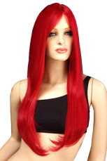 80cm Fashion Red Nylon Straight Cosplay Wig For Women