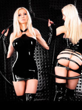 Cool Black Vinyl Wet Look Womens Lingerie