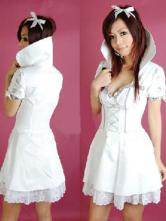 оптом Короткое платье белого.