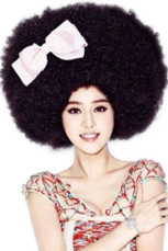 Halloween Blue Super Afro Fashion Curly Wig