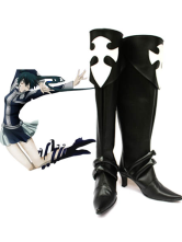 Black D.Gray-man 2 3/4'' Heel Faux Leather Cosplay Shoes