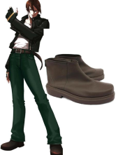 Deep Coffee 1 1/2'' King of Fighters Cosplay Shoes