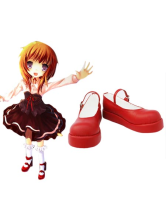 "Coffee 1 1/5"" Heel Umineko no Naku Koro ni Faux Leather Cosplay Shoes"