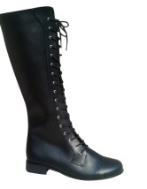 Hot Black PU 1 1/5'' High Heel Womens Sexy Boots