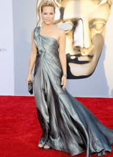 Fashion Gray Taffeta One Shoulder Train Ladies Cannes Film Festival Dress