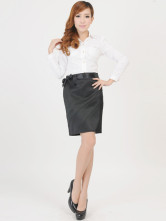High Quality 65% Cotton 35% Polyester Womens Pencil Skirt