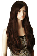 Brown 70cm Nylon Synthetic Wigs