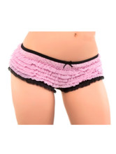Black And Pink Fashion Acrylic Spandex Ladies Panty