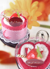 SweetHeart Cake Shape Pink 100% Cotton Towel Gift Box